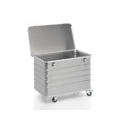 Chariot conteneur 322 litres aluminium avec  couvercle