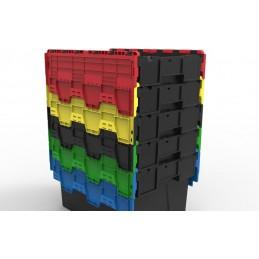 Bac navette 600x400 avec couvercle couleur