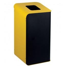 Borne pour le tri des déchets en couleur jaune.