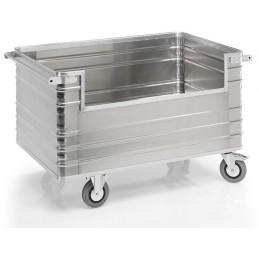 Chariot conteneur 945 litres aluminium avec paroi ouverte
