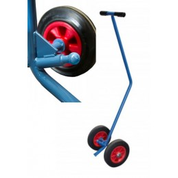 Timon de traction 500 kg pour plateformes roulantes industrielles