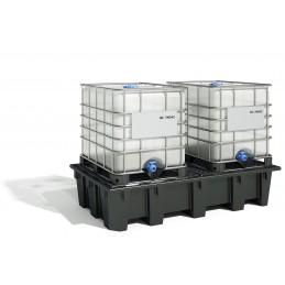 Bac de rétention 1050 litres éco bi-conteneur emboîtable par 6