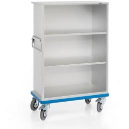Chariot armoire sans porte anodisé en aluminium 460 litres.