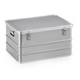 Boîte aluminium 788 x 588 mm pour transport de matières dangereuses 156 litres.