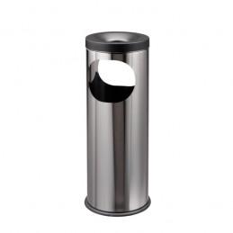 Poubelle inox 19 litres avec cendrier