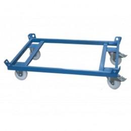 Chariot charge lourde 1000 kg pour palette 1200 x 800 mm
