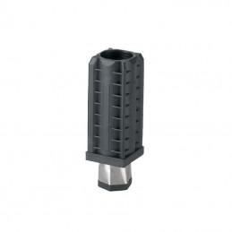Vérin pour tube carré de 40 x 40 mm épaisseur 1 mm embout inox