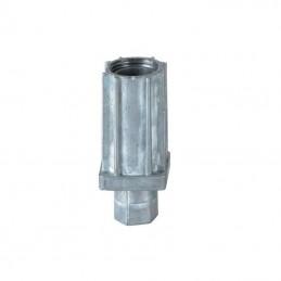 Vérin réglable 30x30 mm en zamac natuel
