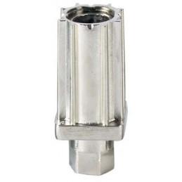 Vérin zamac nickélé pour tube carré de 30 mm