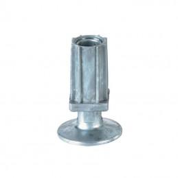 Vérin réglable 35 x 35 mm avec flange hauteur 22 mm