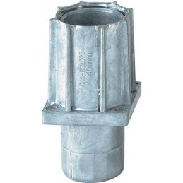 Vérin réglable pour tube 40x40 mm en zamac natuel