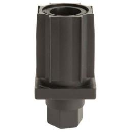Vérin réglable 40x40 mm en composite  noir
