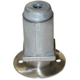 Pied réglable pour tube 50 x 50 mm flange inox