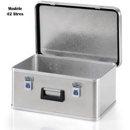 Caisse de stockage en aluminium 42 litres.