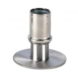 Vérin réglable rond pour tube de diamètre 40 mm base inox