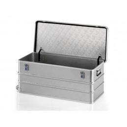 Malle roulante en aluminium pour le stockage et les déplacements de 150 litres.