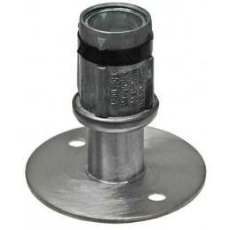 Vérin réglable inox pour tube rond de diamètre 41 mm avec pieds inox