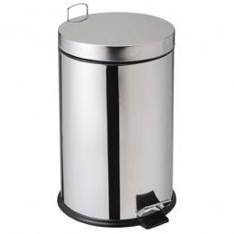 Poubelle 20 litres en inox à pédale avec seau intérieur