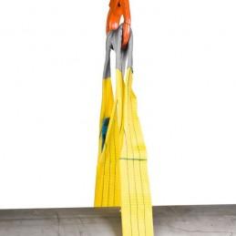 Elingue sangle polyester plate avec boucles renforcées