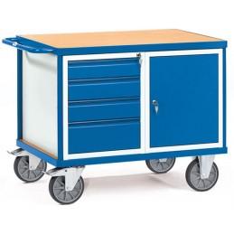Servante mobile d'atelier avec un placard et 4 tiroirs