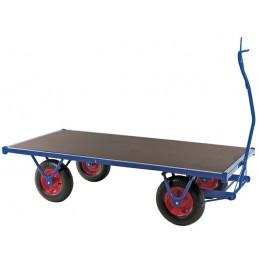 Chariot charge lourde remorquable longueur 3 mètres