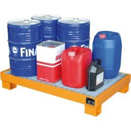 Bac de rétention métallique pour fûts maxi de 60 litres
