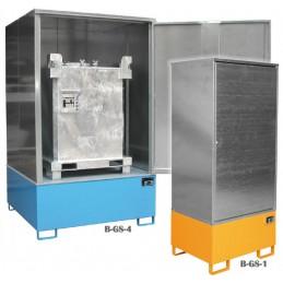 Armoire de stockage pour produits dangereux galvanisée version 200 et 1000 litres.