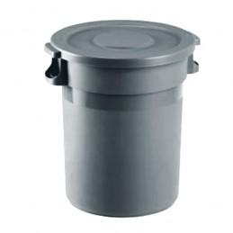 Conteneur à déchets avec couvercle plat 80 litres