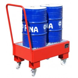 Bac de rétention mobile pour 2 fûts de 60 litres