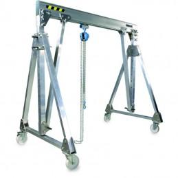 Portique aluminium pliable déplaçable en charge