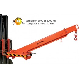 Bras de levage télescopique HKA de 2000 et 3000 kg