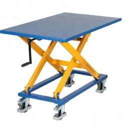 Table élévatrice mobile avec réglable hauteur à la main