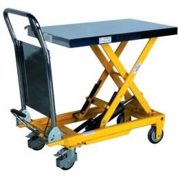 Table élévatrice 300 kg mobile à poignée fixe.