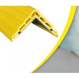 Protection d'angle unie à alvéoles plates sur alu jaune