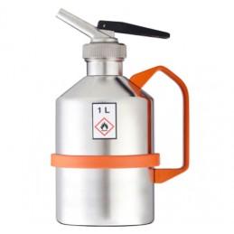 Bidon de sécurité en inox de 1 litre avec bec doseur de précision.