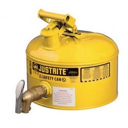 Récipient 10 litres de sécurité avec vidange pour liquides inflammable