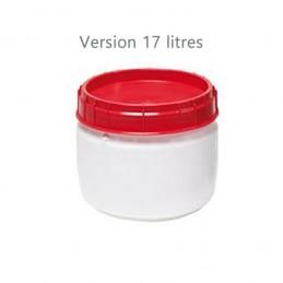 Baril à ouverture totale homologué UN capacité 17 litres.
