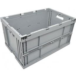 Bac pliable EURONORM 600x400x320 mm sans couvercle couleur gris