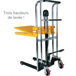 Gerbeur manuel 400 kg avec trois hauteurs de levée possible
