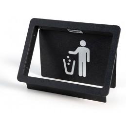 Vide-déchets basculant encastrable à ressort