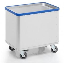 Chariot aluminium à fond mobile capacité 180 litres