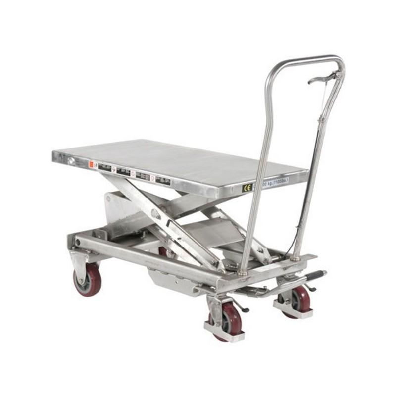 Table élévatrice tout inox 304 capacité 500 kg