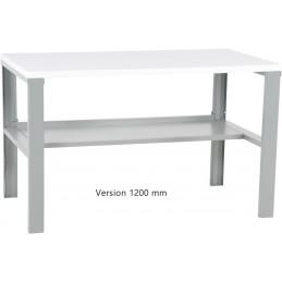 Table de travail pour atelier avec plateau 35 mm longueur 1200 mm.