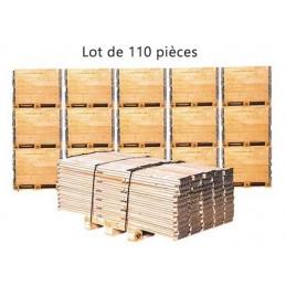 Lot de 110 réhausse pliantes bois 800 x 600 mm