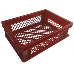 Bac pour le pain 400 x 300 mm hauteur 120 mm ajouré rouge.