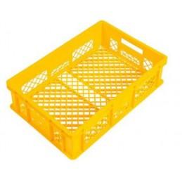 Bac à pain 600 x 400 x 150 mm totalement ajouré jaune.