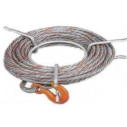 Câble anti-giratoire avec un crochet