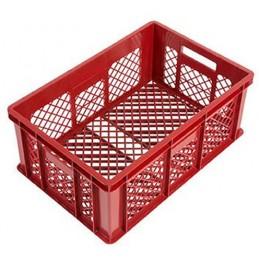 Bac à pain 600 x 400 x 240 mm totalement ajouré rouge.