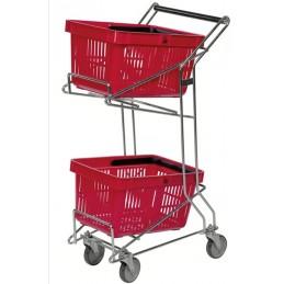 Chariot porte-paniers pour magasin