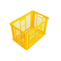 Bac à pain 600 x 400 x 410 mm totalement ajouré 82 litres jaune.